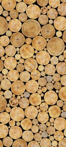 Selbstklebende Tapete Entfernen : Selbstklebende T?rtapete Holzstapel rund ? Bild 1
