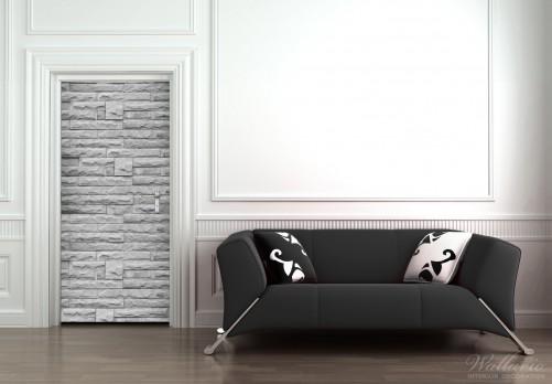 selbstklebende t rtapete steinwand grau. Black Bedroom Furniture Sets. Home Design Ideas
