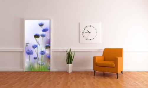 Selbstklebende Tapete Lila : Selbstklebende T?rtapete Abstrakte lila Blume ? Bild 3