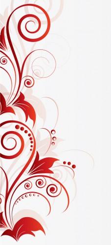 Selbstklebende Tapete Entfernen : Selbstklebende T?rtapete Abstrakte rote Blumenschn?rkel
