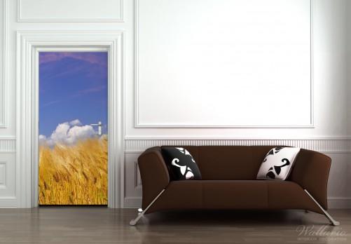 wallario selbstklebende premium t rtapete korn getreide s gras feld sommer ebay. Black Bedroom Furniture Sets. Home Design Ideas