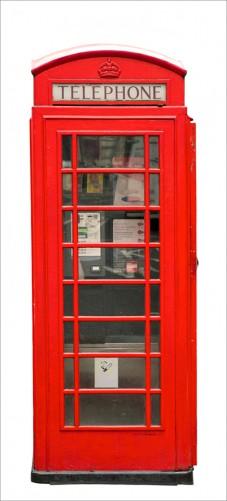 wallario selbstklebende premium t rtapete london rote telefonzelle telephone box ebay. Black Bedroom Furniture Sets. Home Design Ideas