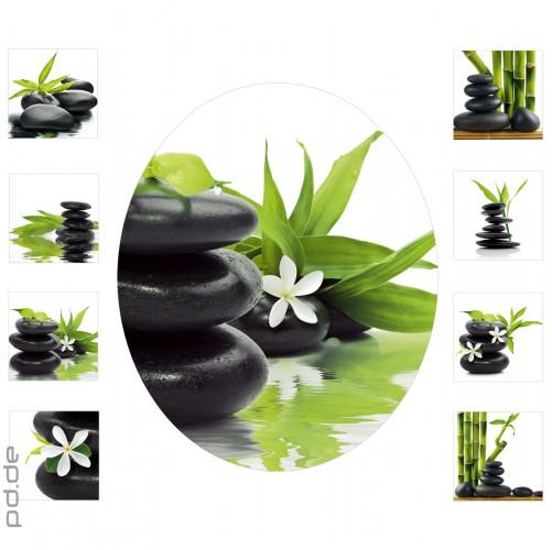 WC-Sticker Orchidee Bambus und Steine