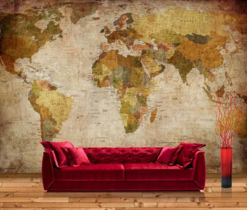 vliestapete alte weltkarte. Black Bedroom Furniture Sets. Home Design Ideas