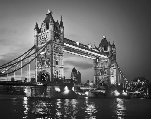 fototapete london tower bridge schwarzwei. Black Bedroom Furniture Sets. Home Design Ideas