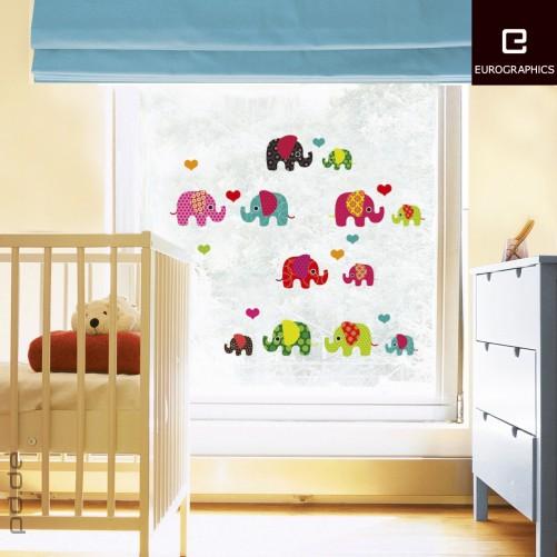 fenstersticker kinderzimmer s e elefanten. Black Bedroom Furniture Sets. Home Design Ideas
