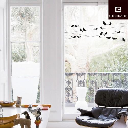 fenstersticker v gel auf stromleitungen. Black Bedroom Furniture Sets. Home Design Ideas
