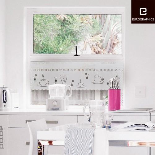 fenstersticker k che kaffee. Black Bedroom Furniture Sets. Home Design Ideas